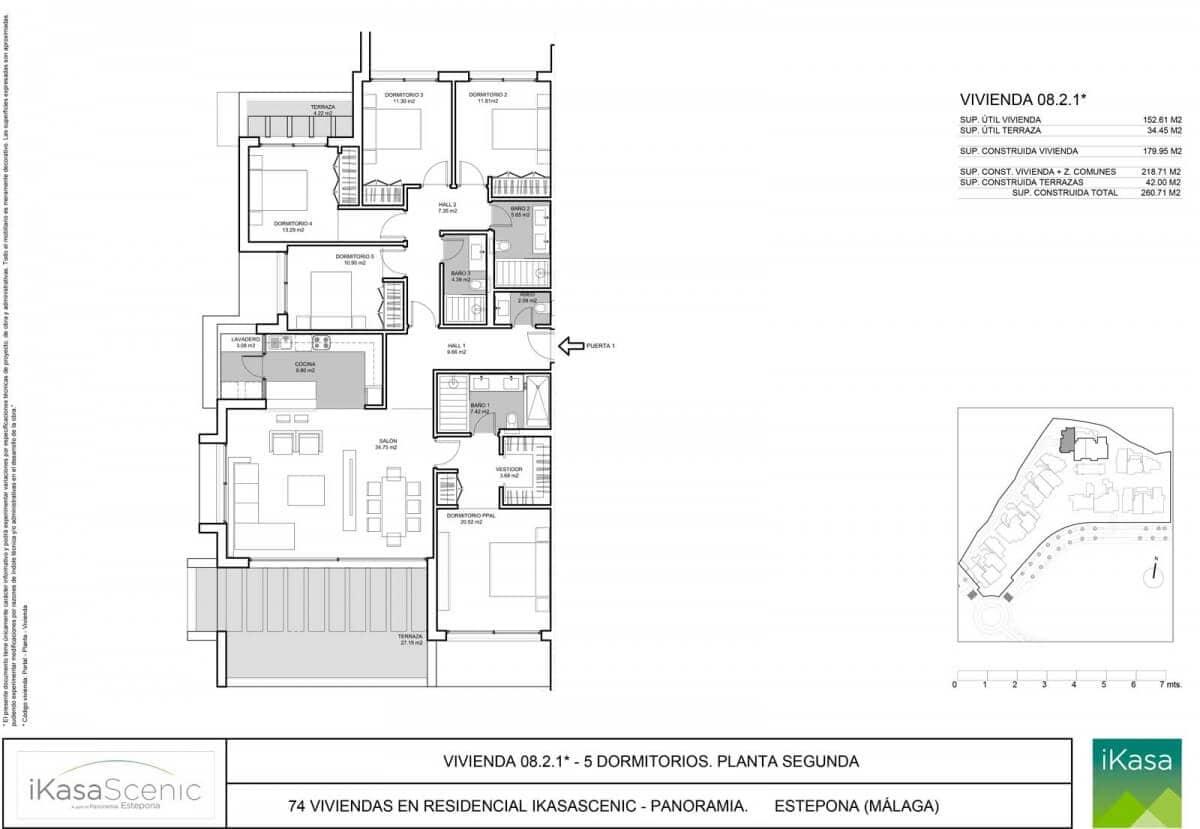 ikasascenic estepona grondplan appartement slaapkamers 5