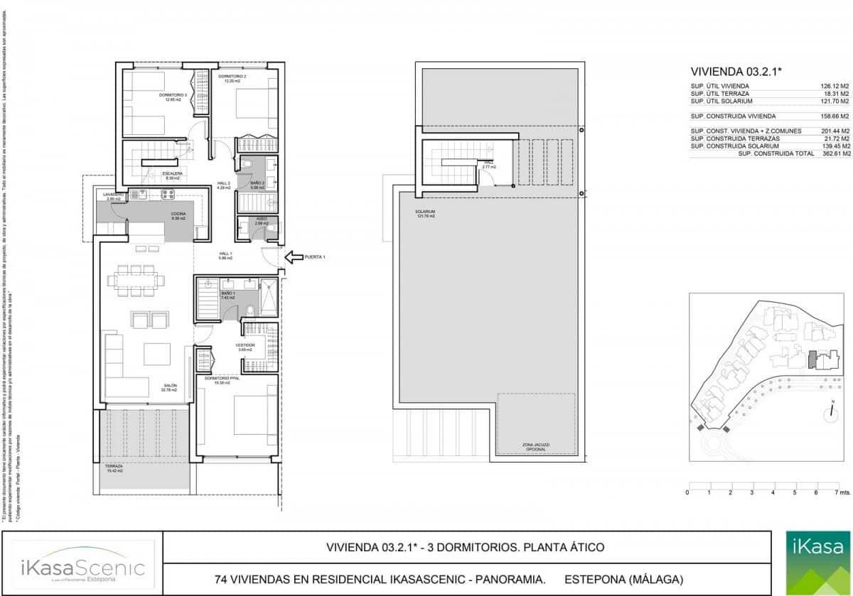 ikasascenic estepona grondplan penthouse slaapkamers 3