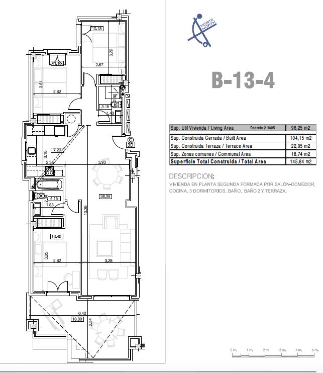 la floresta la mairena appartement grondplan
