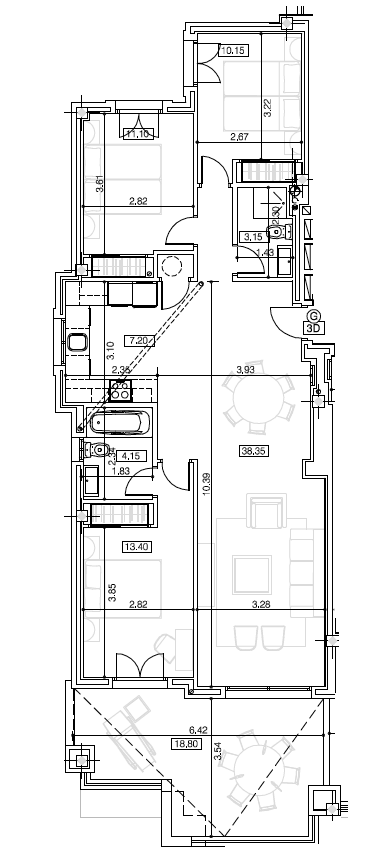 la floresta la mairena appartement plan