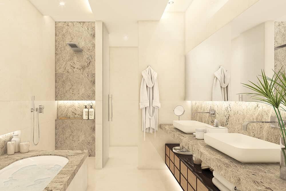la meridiana suites appartementen golden mile badkamer detail