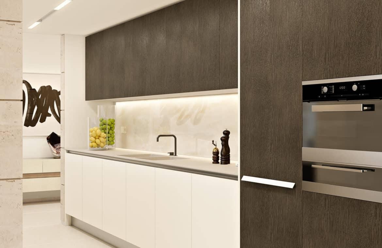 la meridiana suites appartementen golden mile keuken detail