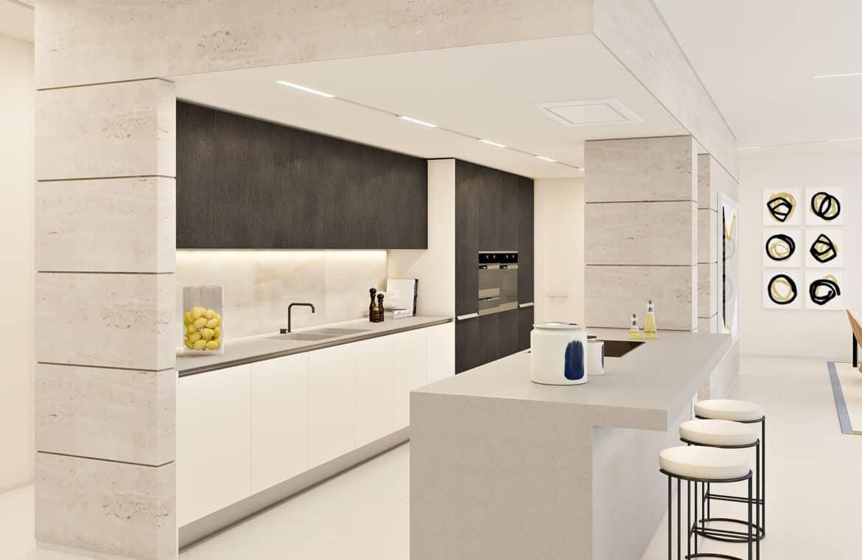la meridiana suites appartementen golden mile keukenbar