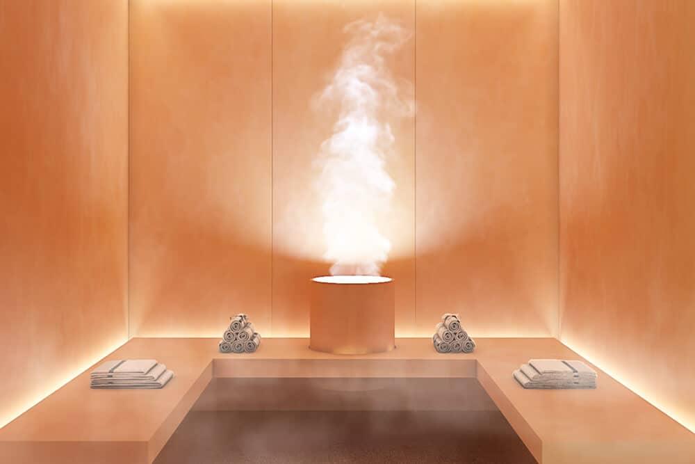 la meridiana suites appartementen golden mile sauna detail