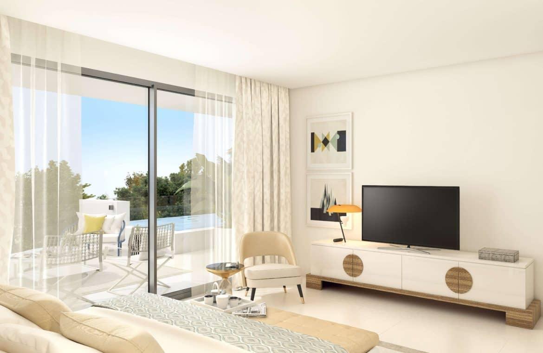 la meridiana suites appartementen golden mile slaapkamer TV