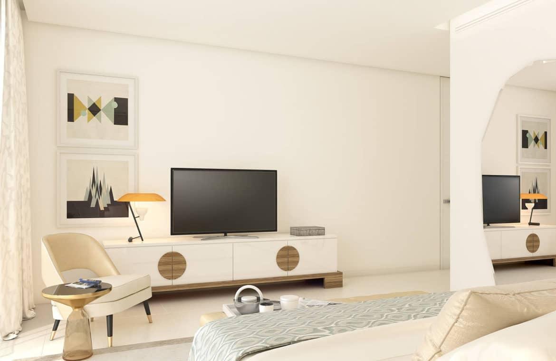 la meridiana suites appartementen golden mile slaapkamer bureau