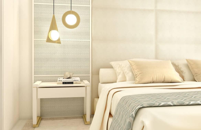 la meridiana suites appartementen golden mile slaapkamer nachttafel