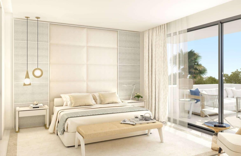 la meridiana suites appartementen golden mile slaapkamer zicht
