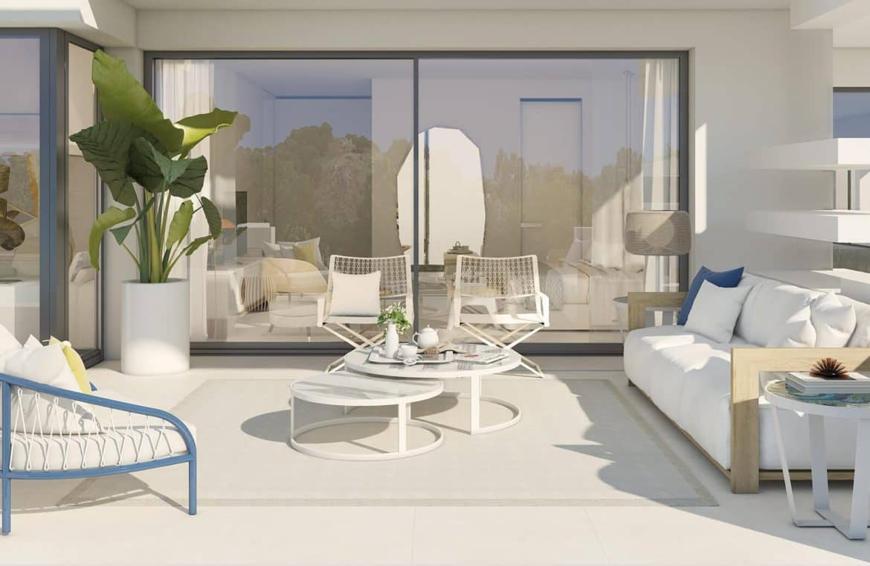la meridiana suites appartementen golden mile terras salon