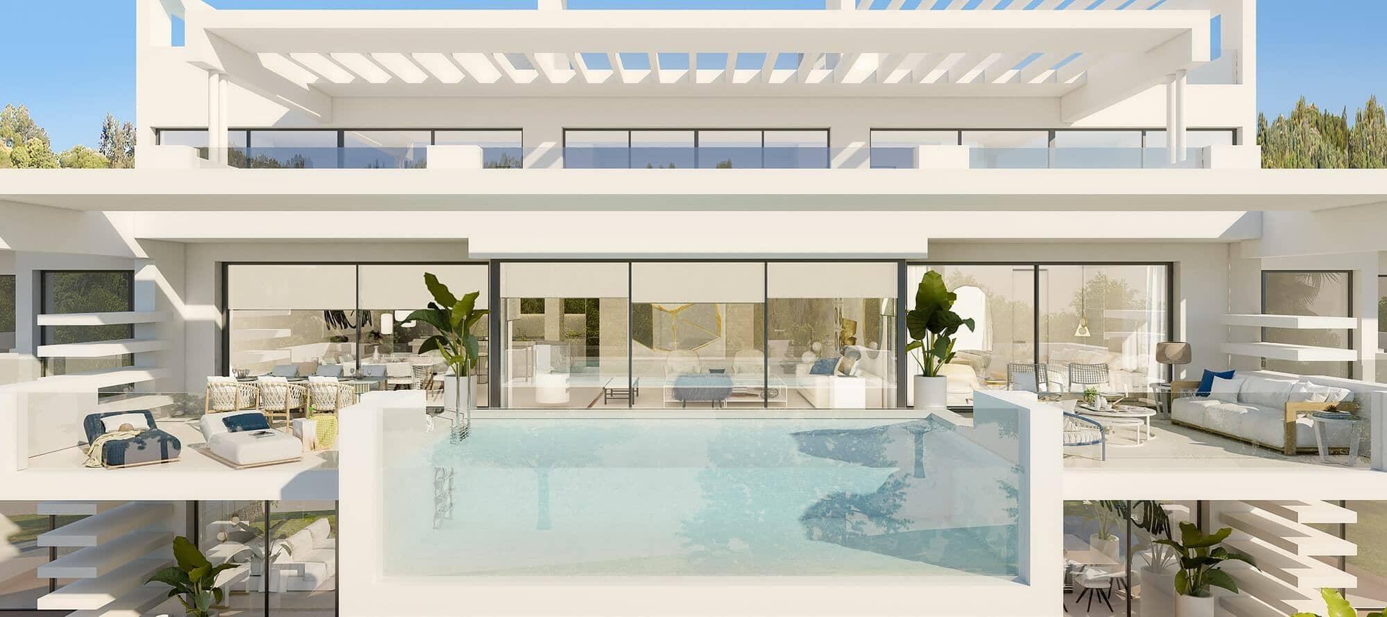 la meridiana suites appartementen golden mile terras zwembad