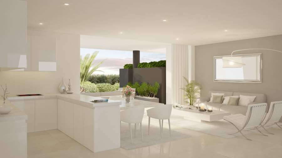 la montesa marbella cabopino appartement gelijkvloers open keuken