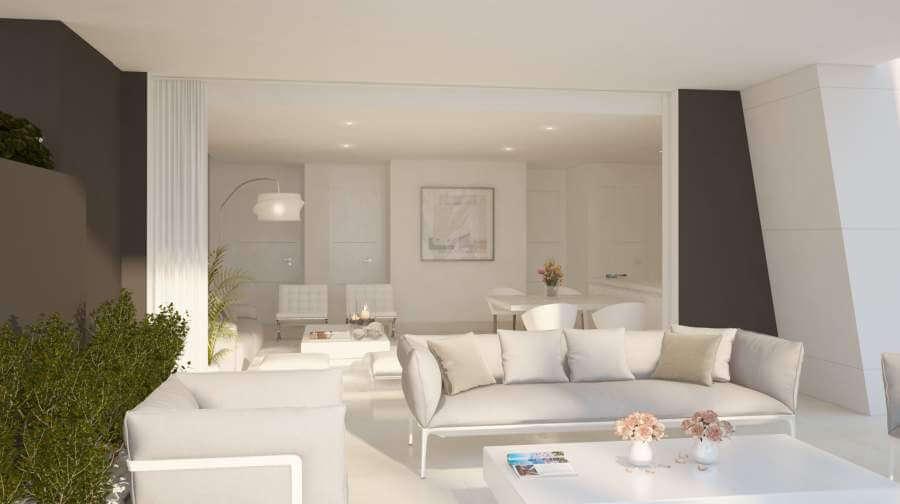 la montesa marbella cabopino appartement gelijkvloers terras sofa