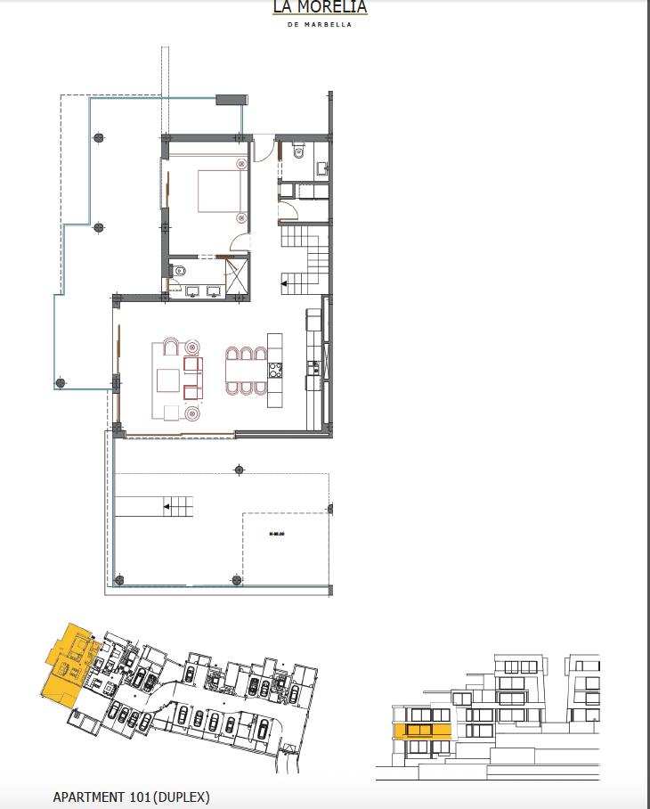 la morelia nueva andalucia grondplan duplex