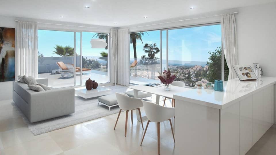 la morelia penthouse nueva andalucia keuken