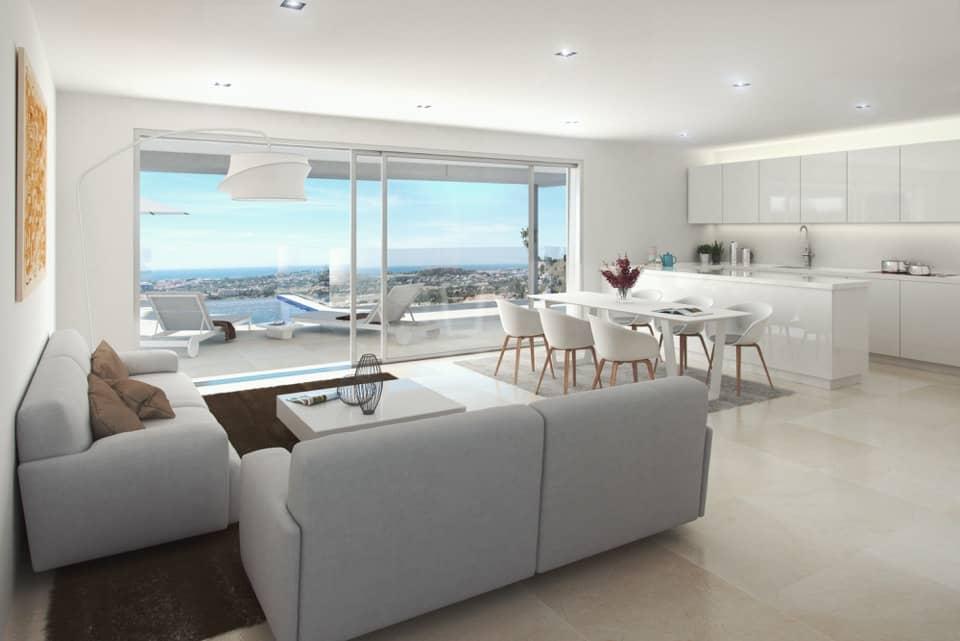 la morelia penthouse nueva andalucia salon