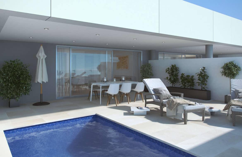 la morelia penthouse nueva andalucia zwembad terras