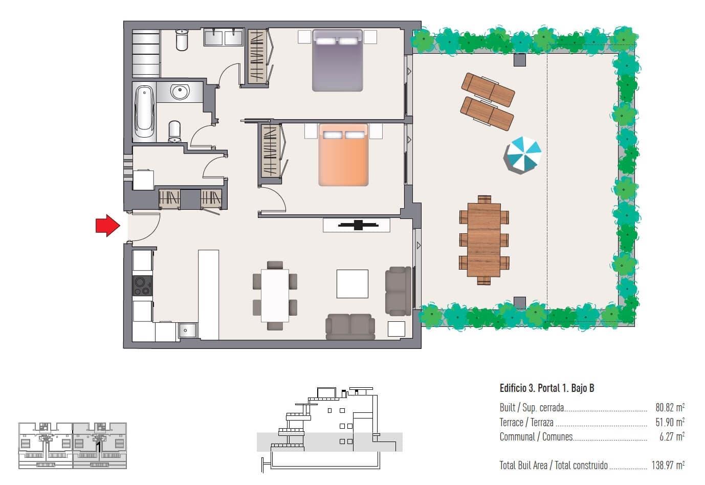 las olas estepona appartement te koop grondplan 2 slaapkamers