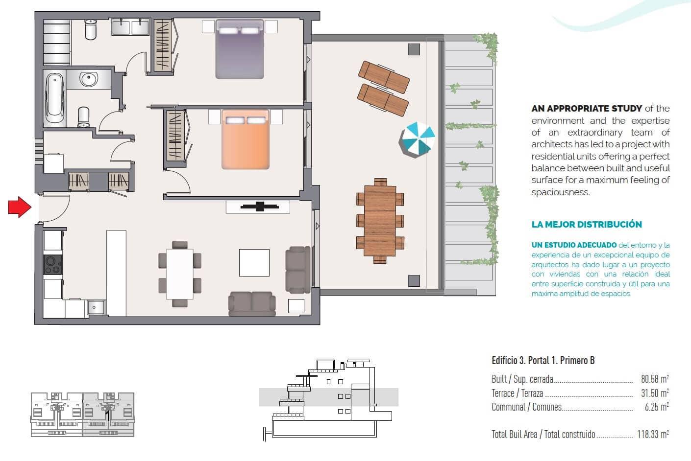 las olas estepona appartement te koop grondplan verdieping 2 slaapkamers