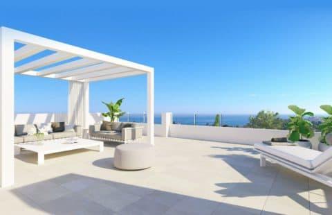 Las Olas: penthouses op wandelafstand zee met zeezicht (Estepona)