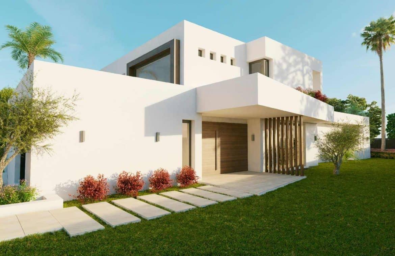 los olivos nueva andalucia marbella modern villa project andere zijkant