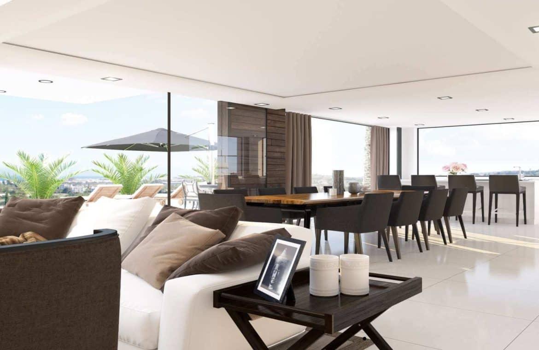los olivos nueva andalucia marbella modern villa project eettafel