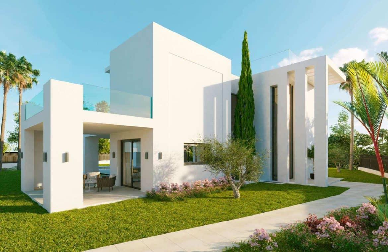 los olivos nueva andalucia marbella modern villa project zijkant