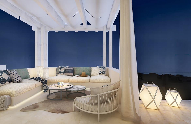 marbella club hills benahavis new golden mile appartementen penthouses te koop terras avond
