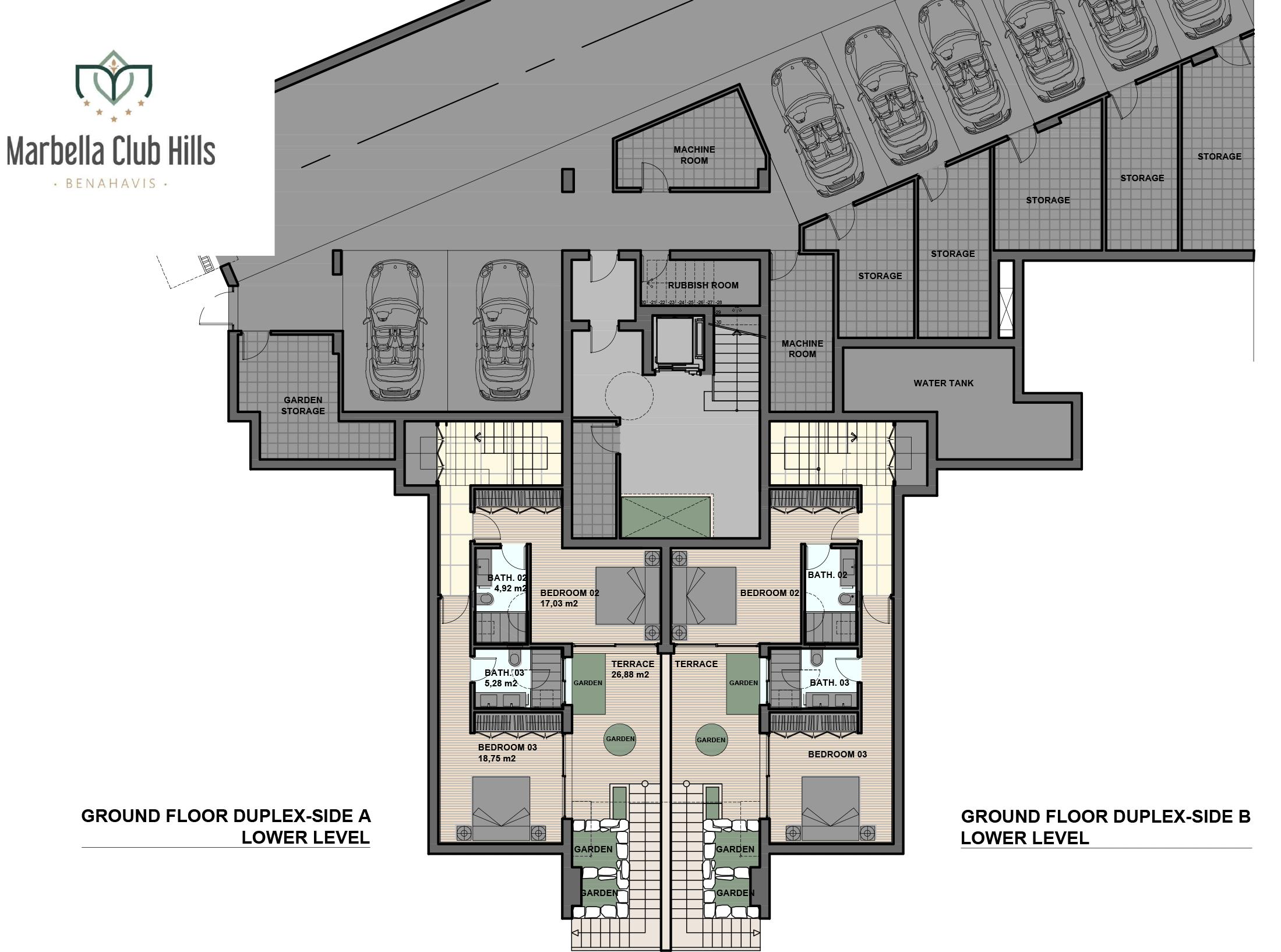 marbella club hills benahavis new golden mile appartementen penthouses te koop zeezicht gelijkvloers