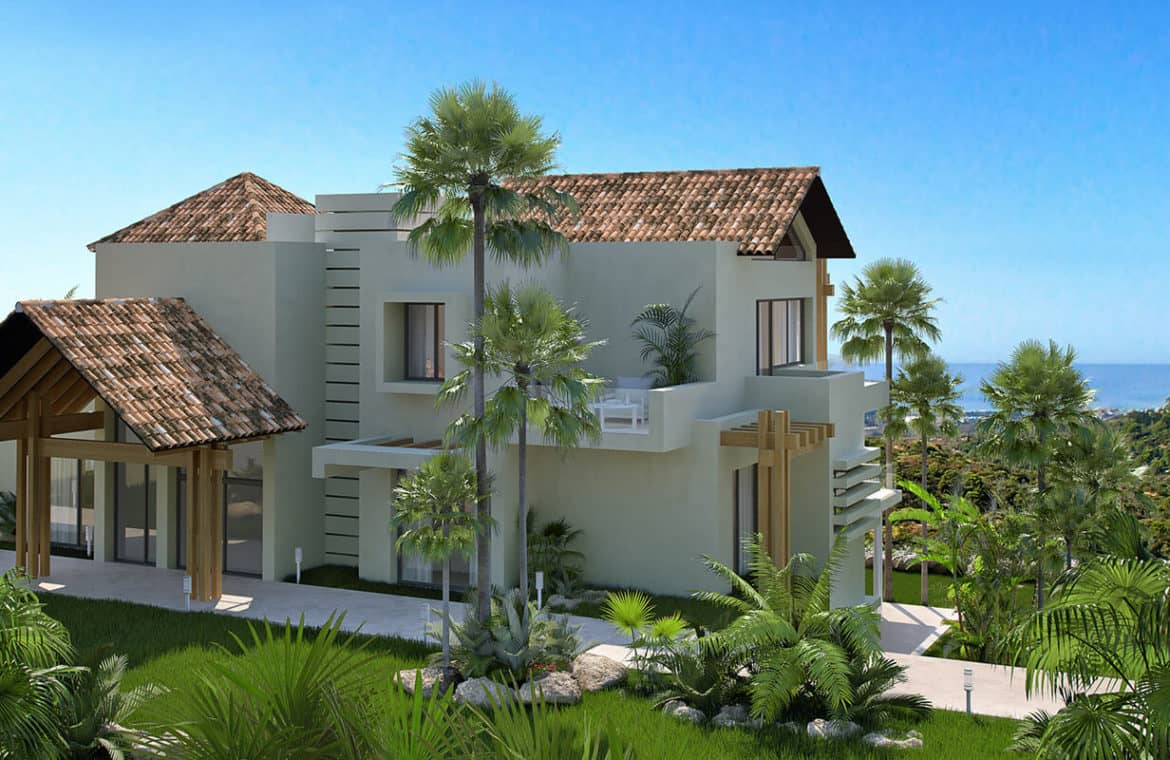 marbella club hills benahavis new golden mile appartementen penthouses te koop zeezicht inkom