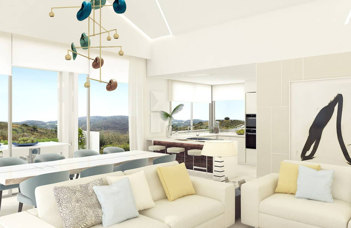 marbella club hills benahavis new golden mile appartementen penthouses te koop zeezicht living terras