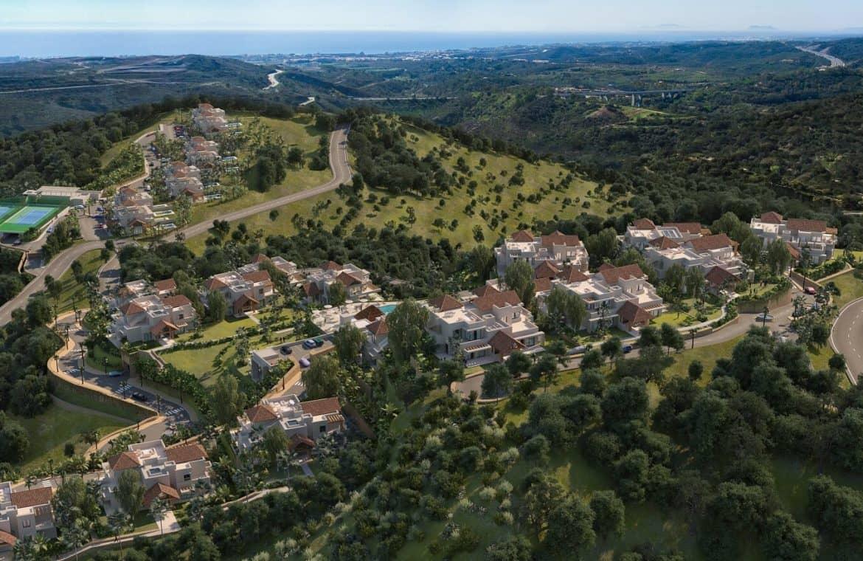 marbella club hills benahavis new golden mile appartementen penthouses te koop zeezicht overzicht