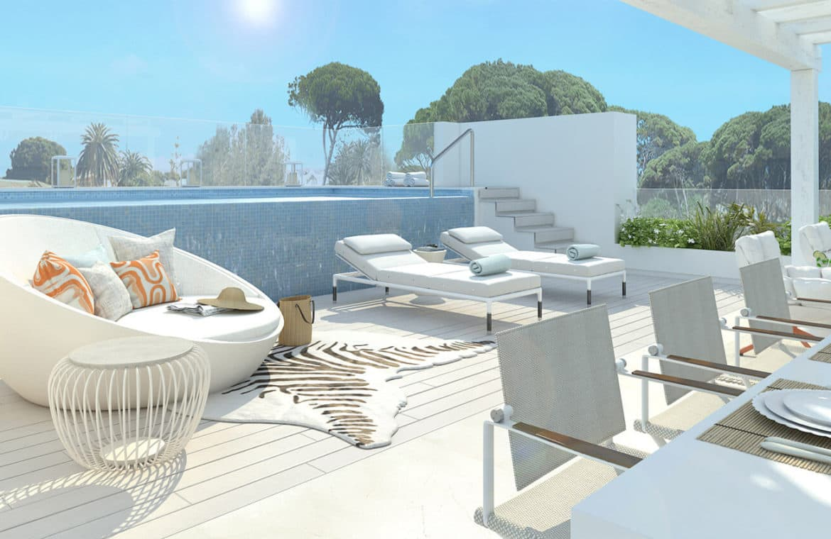 marbella club hills benahavis new golden mile appartementen penthouses te koop zeezicht terras eethoek
