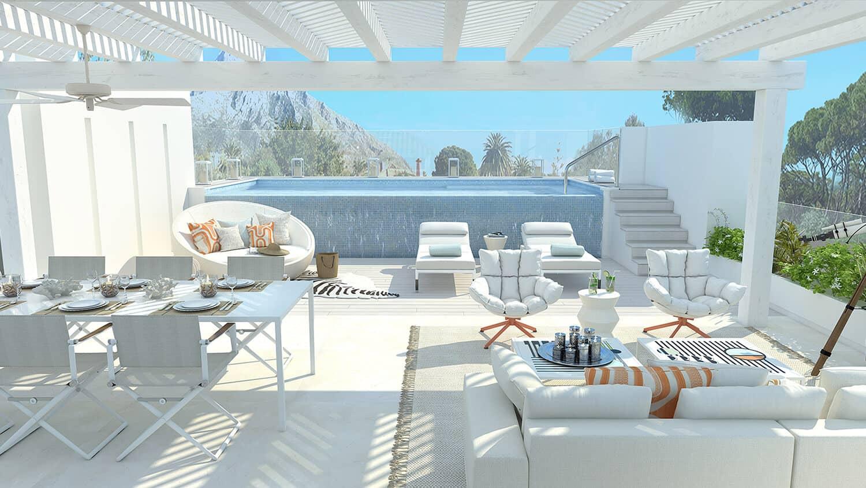 marbella club hills benahavis new golden mile appartementen penthouses te koop zeezicht terras zwembad
