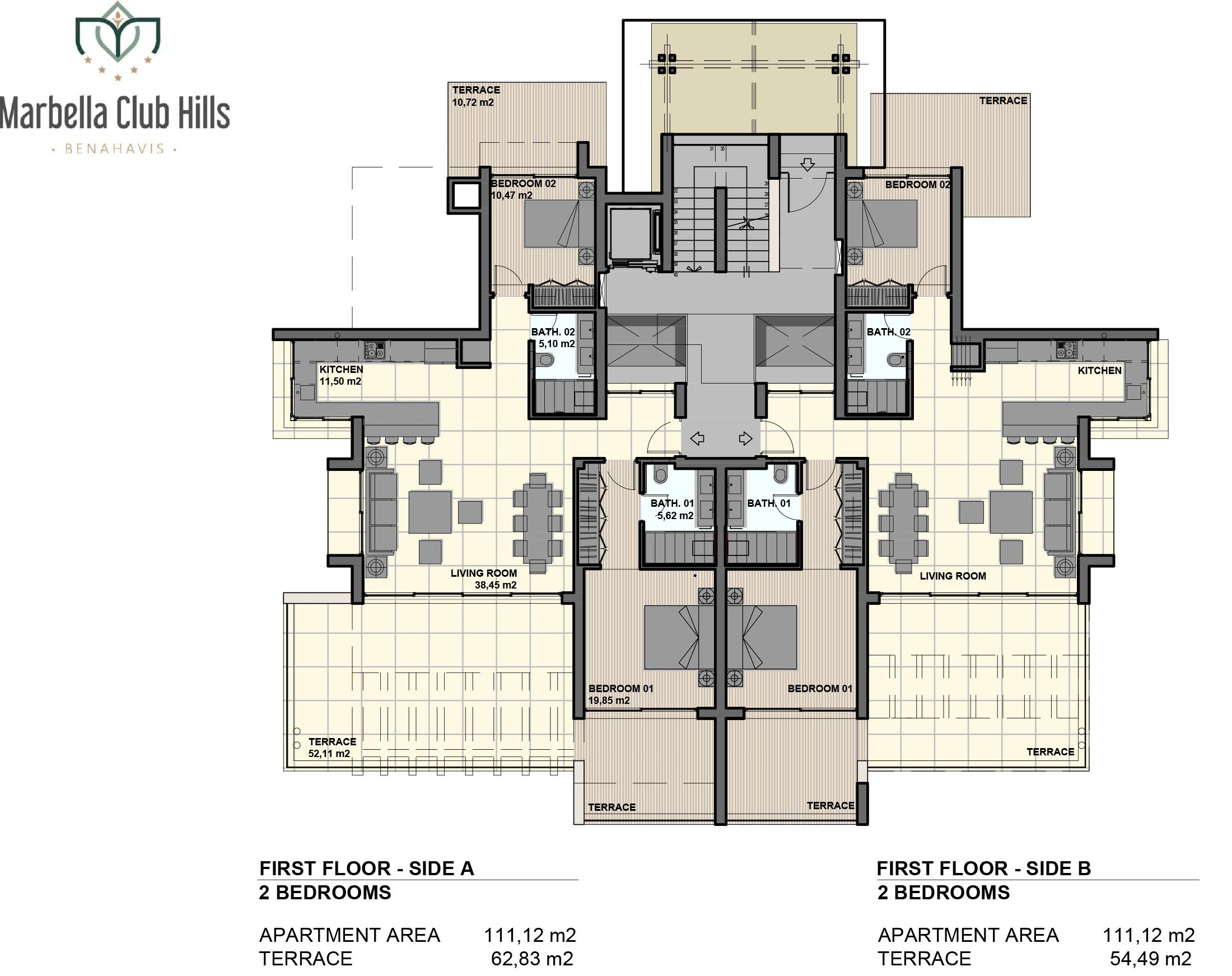 marbella club hills benahavis new golden mile appartementen penthouses te koop zeezicht verdieping 2slaapkamers
