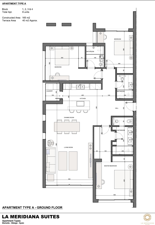 meridiana suites marbella plan gelijkvloers
