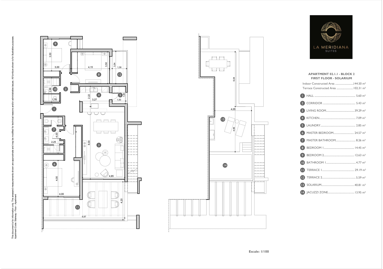 meridiana suites marbella plan penthouse