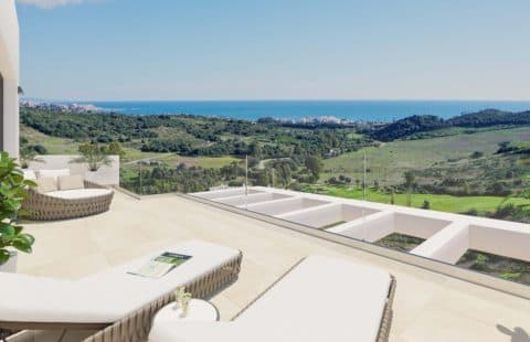 Mirador de Estepona Golf: penthouses met panoramisch zicht (Estepona)