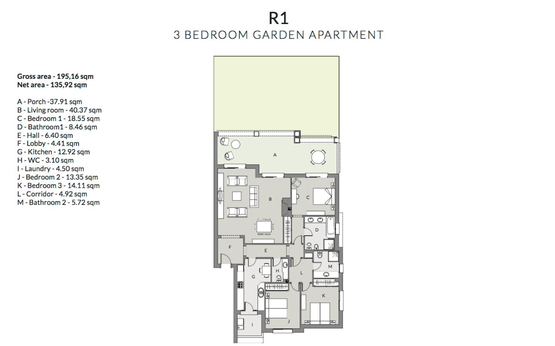 mirador de estepona hills grondplan gelijkvloers slaapkamers 3