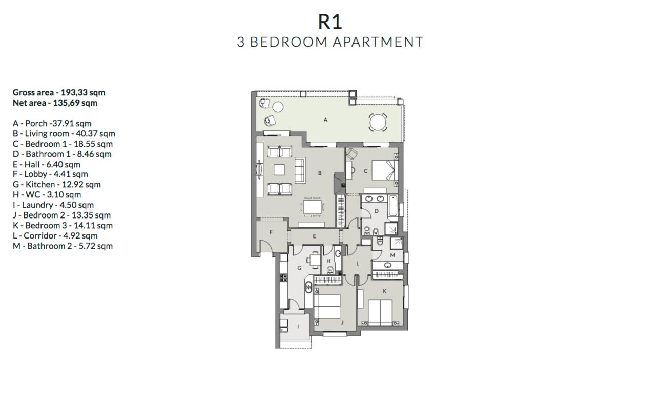 mirador de estepona hills grondplan tussenverdieping slaapkamers 3