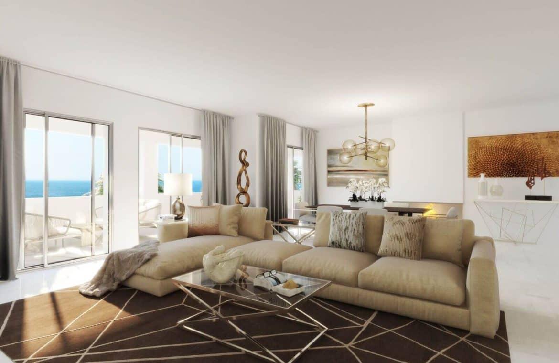 mirador de estepona new golden mile appartement penthpuse kopen marbella living