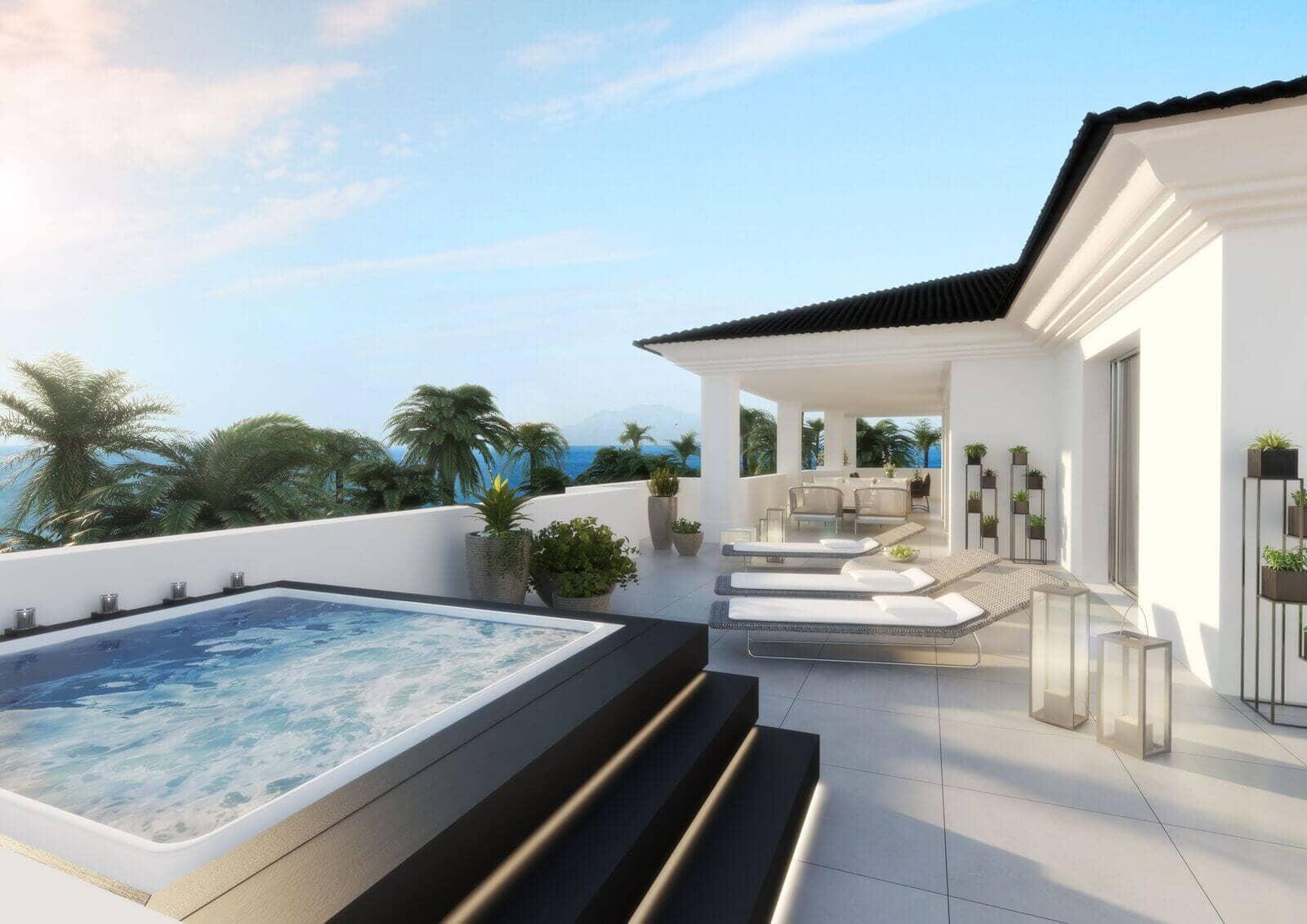 mirador de estepona new golden mile appartement penthpuse te koop marbella jacuzzi terras