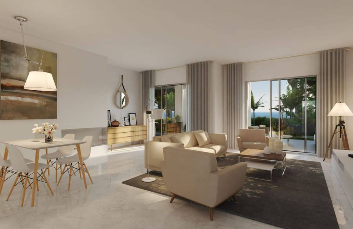 mirador de estepona new golden mile appartement penthpuse te koop marbella living