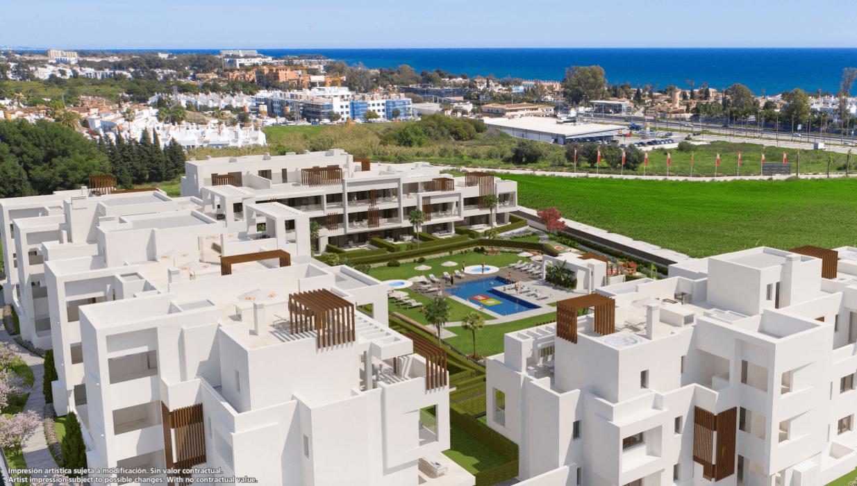 miradores del sol estepona new golden mile appartemet penthouse huis kopen marbella zeezicht project zee