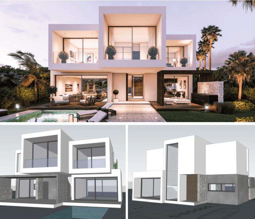 moderne villas in estepona boladilla village design2