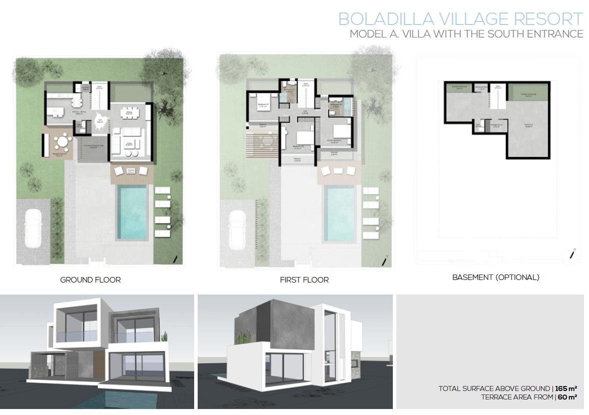 moderne villas in estepona boladilla village model a