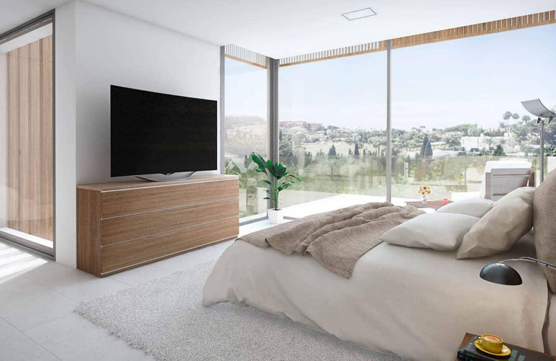moderne villas in estepona boladilla village slaapkamer