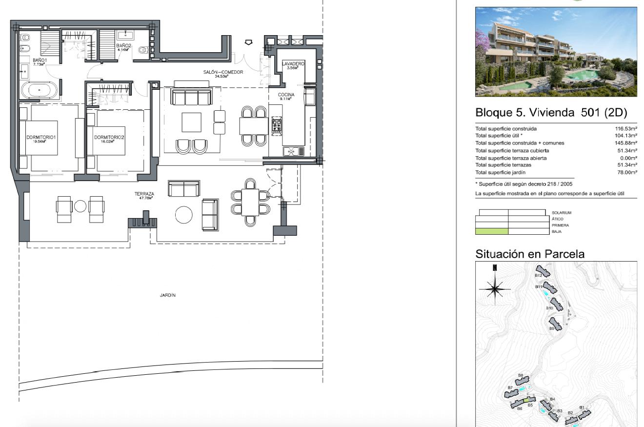 olivos te koop nueva andalucia grondplan 2 slaapkamers