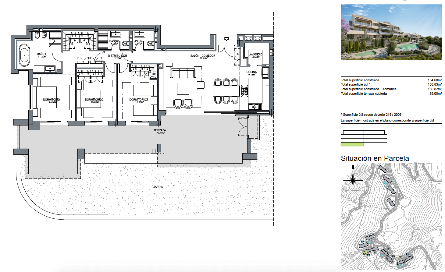olivos te koop nueva andalucia grondplan 3 slaapkamers