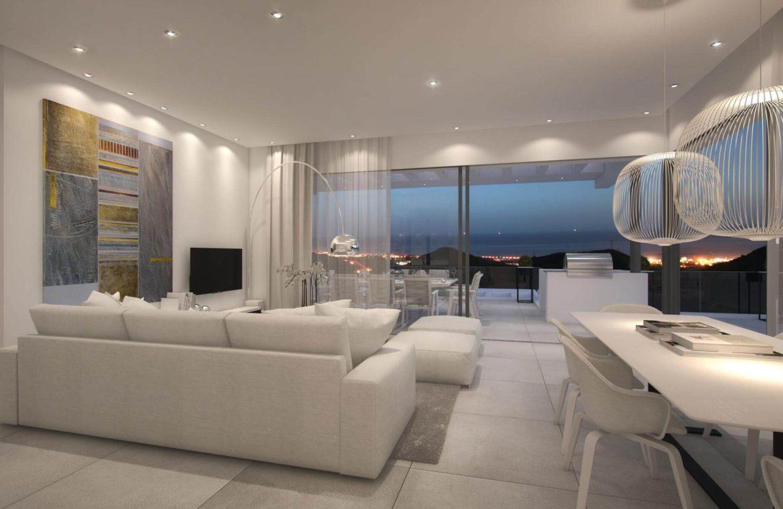 palo alto marbella appartement penthouse te koop living