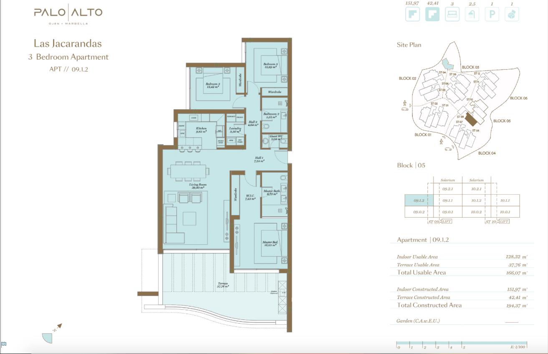 palo alto ojen marbella nieuwbouw resort luxe te koop appartement penthouse modern grondplan las jacarandas slaapkamers 3